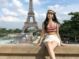 【GG扑克】正妹Michelle Lo晒法国巴黎旅游照 性感大长腿十分吸睛