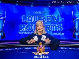【GG扑克】Lauren Roberts赢得美国扑克公开赛第三项赛事$10,000 NLH冠军!