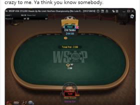 【GG扑克】Seidel在HU中趁对方掉线狂抢盲被批无体育精神