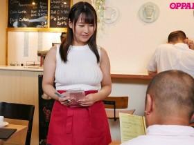 【GG扑克】巨乳女大生神坂朋子咖啡店打工不穿内衣,透视乳头诱惑!