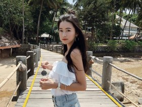 【GG扑克】青春美少女Zoe 清新校园女孩迷人眼神令人心动