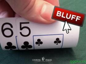 【GG扑克】牌局分析:65s在K-7-4翻牌面的三连注诈唬
