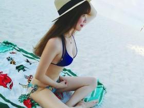 【GG扑克】正妹人妻im33大解放 沙滩上脱掉性感比基尼辣翻网友
