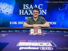 【GG扑克】Isaac Haxton斩获大师赛第四项赛事$10,000短牌扑克冠军!