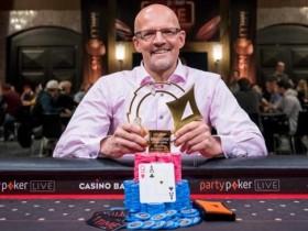 【GG扑克】Andreas Eiler取得partypoker线下百万赛事巴塞罗那站豪客赛冠军