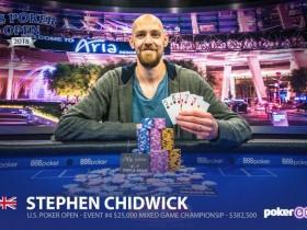 【GG扑克】Stephen Chidwick连续取得$25,000买入赛事冠军