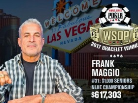 【GG扑克】WSOP赛讯:Frank Maggio元老赛摘桂
