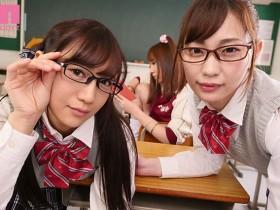 """【GG扑克】MIAA-090: 两个制服小恶魔""""美谷朱里,星奈あい""""共侍一夫同床争宠!"""