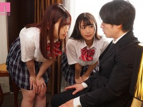 """【GG扑克】""""姬咲华,小梅惠奈""""作品miaa-461:巨乳高中生主动约班主任在课后一起到旅馆内3P。"""