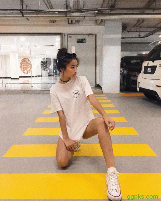【GG扑克】运动美女wan wei 时尚穿搭秀完美身材