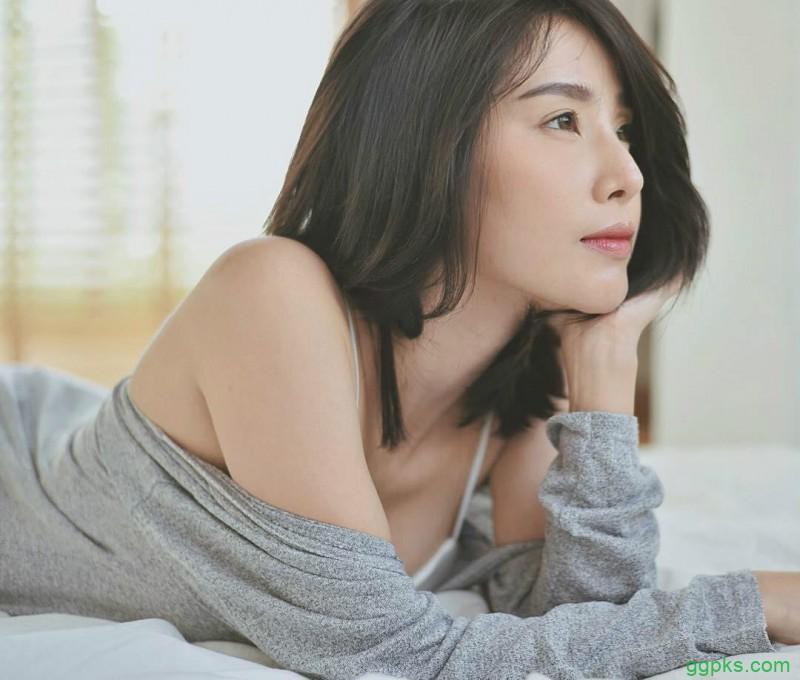 【GG扑克】短发美女Sathankorn 泰妹气质迷人拍写真超上镜