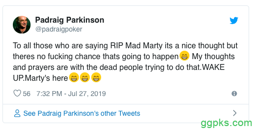 【GG扑克】英国牌手'Mad' Marty Wilson因癌去世