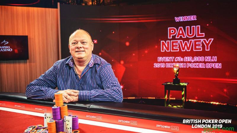 【GG扑克】Paul Newey取得英国扑克公开赛£10K NLH冠军,Sam Soverel再获亚军
