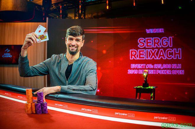 【GG扑克】Sergi Reixach斩获BPO £25K NLHE冠军,奖金£253,000