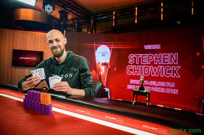 【GG扑克】Stephen Chidwick斩获BPO £25K PLO冠军,入账 £202,500