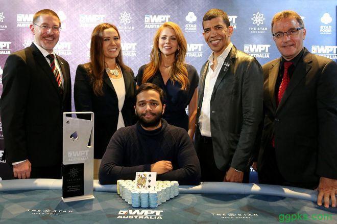【GG扑克】Hari Varma斩获首届WPT澳大利亚站主赛胜利,奖金5,693