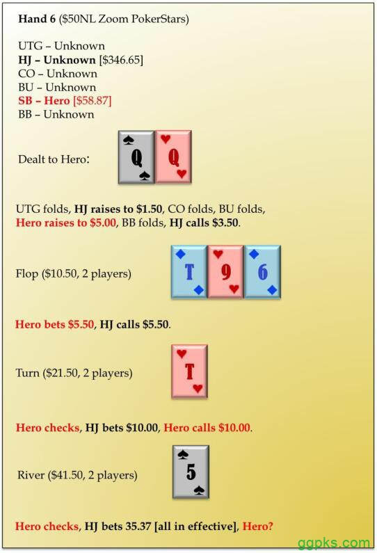 【GG扑克】六人桌常规局典型牌例100手-6