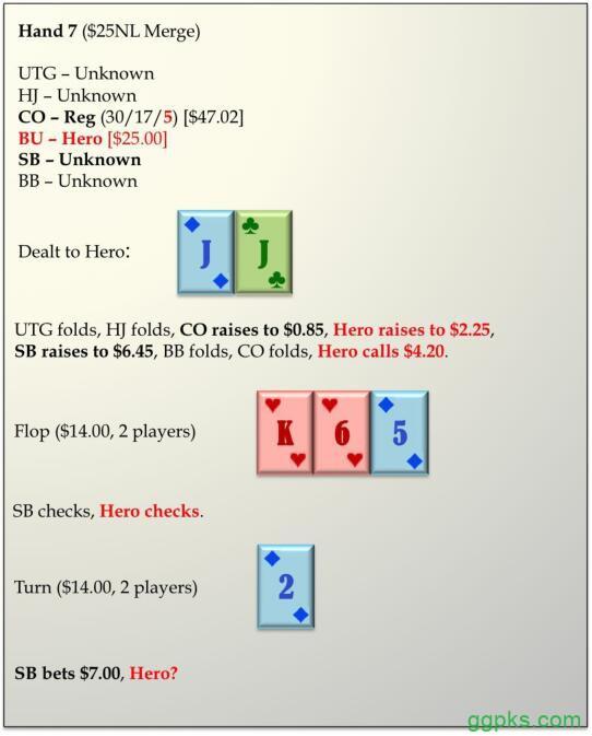 【GG扑克】六人桌常规局典型牌例100手-7