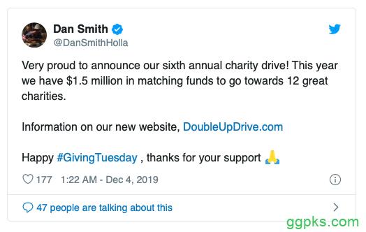 【GG扑克】Dan Smith慈善赛今年捐款150万美元