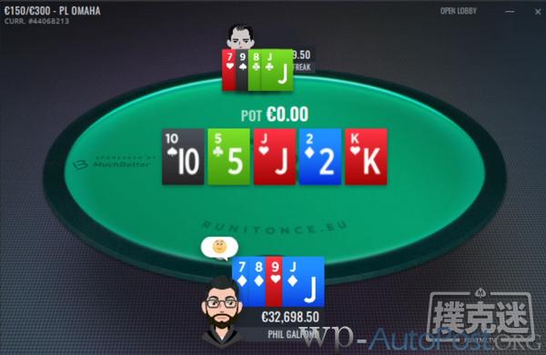 【GG扑克】Galfond挑战赛:ActionFreak领先1162欧元