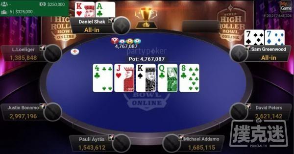 【GG扑克】Bonomo夺得第三个超级碗冠军头衔,决赛桌众星云集David Peters获得第3,Loeliger第6