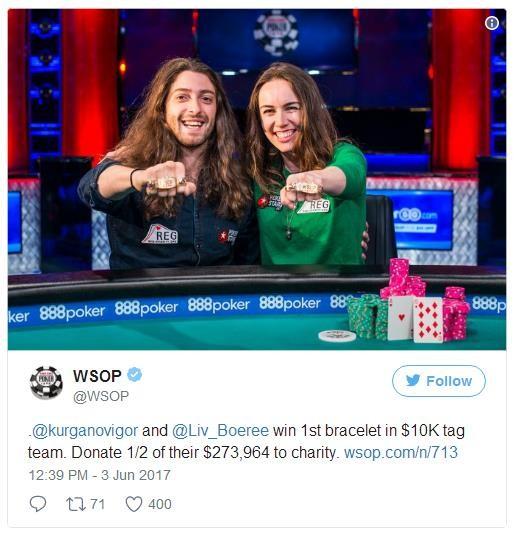 【GG扑克】Liv Boeree的WSOP金手链拍卖交易价,200