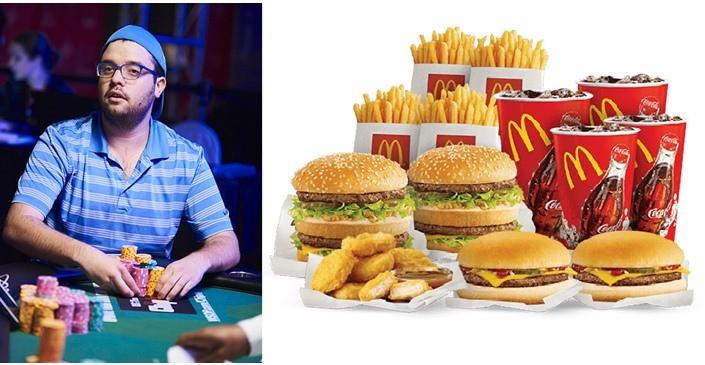 【GG扑克】职业牌手打赌36小时内吃完1000美元麦当劳食物