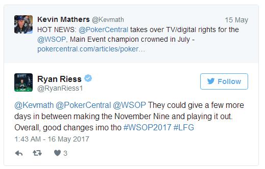 """【GG扑克】扑克职业玩家对取消WSOP""""11月9人组""""的反应"""