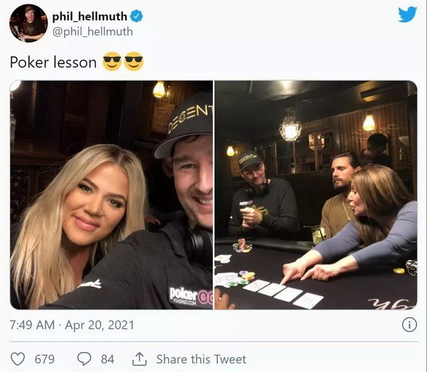 【GG扑克】蹭热点?Hellmuth给卡戴珊上扑克课 Polk翻旧账暗讽土豪丹在2018年出售比特币行为