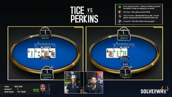 【GG扑克】Bill Perkins扳回一城,赢得第二场单挑赛的胜利