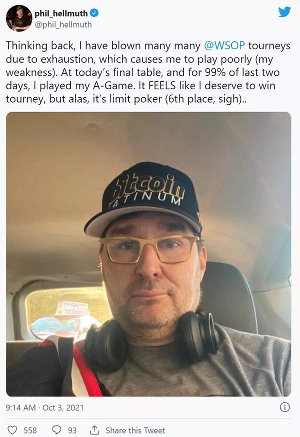 【GG扑克】Phil Hellmuth承认自己曾在比赛时服用神经类药物
